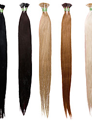 100% Human Hair Extensions I tips 18inch 25g 50 Strands Straight Hair