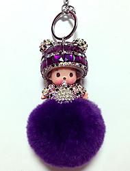 Dolls Key Chain Diamond Toys Cartoon Lovely Leisure Hobby White Crystal
