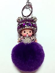 Dolls Key Chain Toys Leisure Hobby Purple Crystal