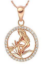 Женский Ожерелья с подвесками Бижутерия Стерлинговое серебро 18K золото Pоскошные ювелирные изделия бижутерия Винтаж Euramerican Бижутерия