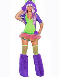 Costumes de Cosplay Animal Fête / Célébration Déguisement d'Halloween Violet Vert Couleur Pleine Carnaval Féminin Coton