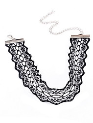 Women's Choker Necklaces Lace Flower Flower Style Fashion Personalized Euramerican White Black Jewelry Daily Casual 1pc