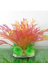Оформление аквариума Водное растение Искусственная Пластик Розовый