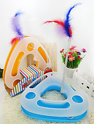 Cat Toy Pet Toys Interactive Teaser Feather Toy Tubes & Tunnel Mouse ToySqueak / Squeaking Durable Ball Track Disk Scratch Pad Cat Track