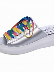 Women's Sandals Summer PU Office & Career Casual Lace-up Creepers