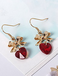 Drop Earrings Earrings Set Crystal Crystal Alloy White Fuchsia Jewelry Daily Casual 1 pair