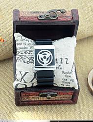 Fashion Watch Quartz Leather Band Black