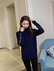 2016 знак внешней торговли горячей новой звезды того же пункта Бекхэмы моды зимой с высоким воротником свитер сплошной цвет тонкий