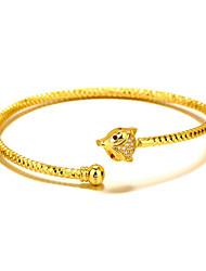 Manchettes Bracelets Cuivre Plaqué or 24K Plated Gold Naturel Mode Gothique Forme d'Animal Or Bijoux 1pc