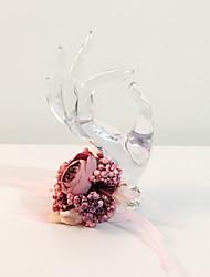Fleurs de mariage Rond Noué à la main Petit bouquet de fleurs au poignet Mariage La Fête / soirée Fleur séchée Env.21cm