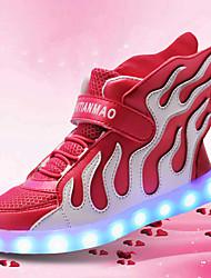 Tacón Bajo-Confort Light Up Zapatos-Zapatillas de deporte-Boda Exterior Informal-Tul-Negro Azul Rosa Blanco