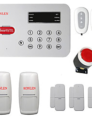 Wireless Home PSTN Alarm systems House Voice Auto Dialer Burglar Security Alarm System kit with PIR sensors Magnetic Door sensor