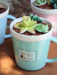 Novelty Drinkware, 275 ml Portable Ceramic Coffee Milk Coffee Mug Travel Mugs