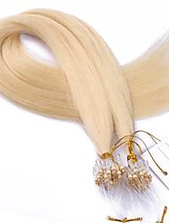 mejor nota 10a # 613 de color decolorantes del cabello rubio micro anillo granos bucle de extensiones de cabello sedoso 100 gramos