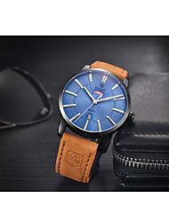 Sport Watch / Quartz Leather Band Vintage Brown