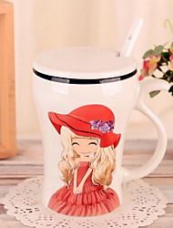 Desenho Artigos para Bebida, 400 ml presente namorada Cerâmica Café Leite Copos
