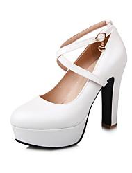 Mariage Bureau & Travail Habillé-Bleu Rose Blanc-Gros Talon-club de Chaussures-Chaussures à Talons-Polyuréthane