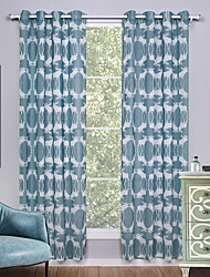 Two Panels Curtain Modern Animal Living Room Linen/Polyester Blend Curtains Drapes Home Decoration For Window