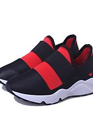 Femme Chaussures d'Athlétisme Confort Polyuréthane Printemps Eté Automne Habillé Soirée & Evénement Marche Confort Lacet Talon PlatNoir