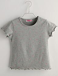 Baby T-Shirt,Lässig/Alltäglich Punkte-Baumwolle-Sommer-Grau