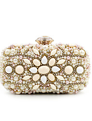 L.west Women Elegant High-grade Diamonds Beaded Evening Bag