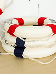 Art Life Buoy Wall Decor Fabric Cotton Styrofoam Modern Wall Ornaments Random Color