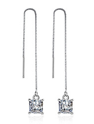 925 Sterling Silver Necklace AAA Cubic Zirconia Drop Earrings Jewelry