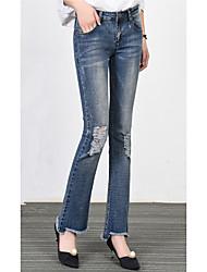 2017 Frühling koreanische Version von Loch neun Punkte Jeans weibliche Sprecher war dünne Stretch-Hosen Hosen Mikro-Lautsprecher 9 Grat