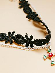 Femme Bracelet de cheville/Bracelet Dentelle Hip-Hop Pierre Hypoallergique Simple Style Forme de Coeur Forme de Croix Noir Aux femmes