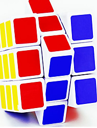 Smooth Speed Cube 3*3*3 Mirror Magic Cube Rainbow Silver Scrub Sticker Lingyun Anti-pop Plastic