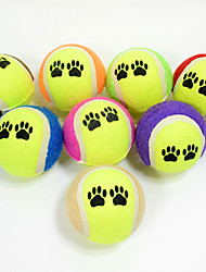 Cat Toy Dog Toy Pet Toys Ball Chew Toy Interactive Teeth Cleaning Toy Durable Elastic Cartoon Dog Footprint Nobbly Wobbly Halloween Rubber