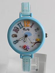 Модные часы / Кварцевый PU Группа Мультфильмы Повседневная Синий Розовый Желтый