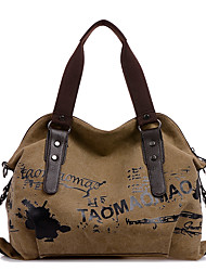 Women Bags All Seasons Canvas Shoulder Bag with for Casual Sports Outdoor Office & Career Professioanl Use Blue Brown Khaki Pinky