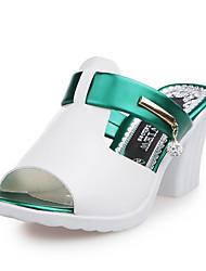 Damen-Sandalen-Lässig-PU-Blockabsatz-Komfort