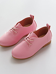 Extérieure Habillé Décontracté-Noir Rose Blanc-Talon Bas-Flower Girl Chaussures-Ballerines-Polyuréthane