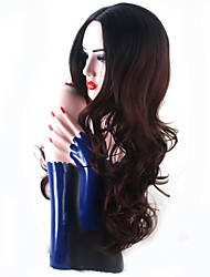 New Fashion High Quality Ombre Brown Long Natural Volume Synthetic Wigs Hot Sale.