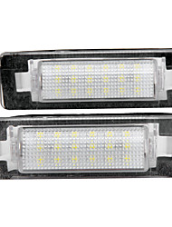 2 x White 18 LED 3528 SMD License Plate Lights Lamp Bulb for BENZ W210 W202 4D