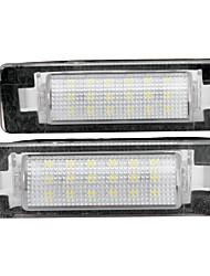 2 x branca 18 LED 3528 luzes da placa de licença SMD lâmpada do bulbo para o Benz W210 W202 4d