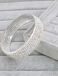 Bracelet Bangles Alloy Rhinestone Infinity Fashion Wedding Party Jewelry Gift White,1pc