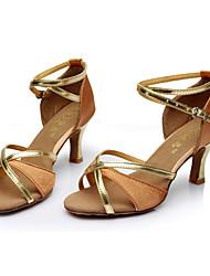 Kids' Dance Shoes Satin Latin Sandals Stiletto Heel Indoor