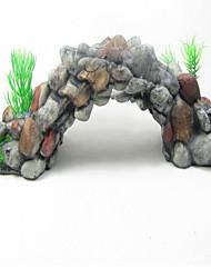 Décoration d'aquarium Roches Non toxique & Sans Goût résine Gris