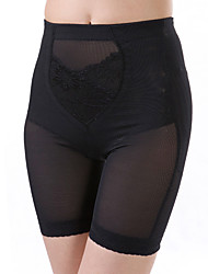 Women's Sexy Lace Maternity Postpartum Slimming Corset High Waist Elasticity Nylon Black Shaping Panties