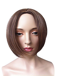 Short Bob Wig Blonde Side Part Synthetic Fiber Wig Straight Cosplay Costume Wig