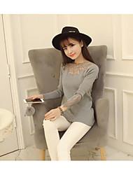 otoño e invierno signo 2016 versión coreana del temperamento de cercanías diosa camisa de manga larga era delgado suéter de las mujeres