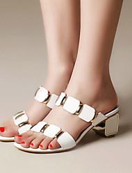 Damen-Sandalen-Kleid Lässig Party & Festivität-Kunststoff-Blockabsatz-Club-Schuhe