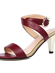 Women's Sandals Spring Summer Club Shoes Cowhide Party & Evening Dress