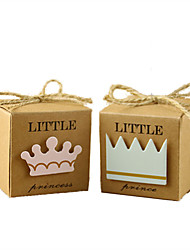 50pcs Little Princess/Prince Kraft Paper Candy Box For Guests Favor Box Birthday Kids Party Supplies Baby Shower Candy Box