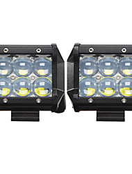 2x 30w conduziu o trabalho barra de luz 4WD offroad local inundação nevoeiro ATV SUV que conduz local lâmpada LED off ute caminhão barco