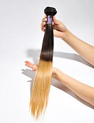 Âmbar Cabelo Brasileiro Retas 3 meses 1 Peça tece cabelo