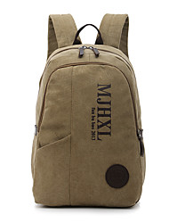 Sports Casual Outdoor Professioanl Use Shopping Backpack Unisex Canvas Blue Green Brown Khaki